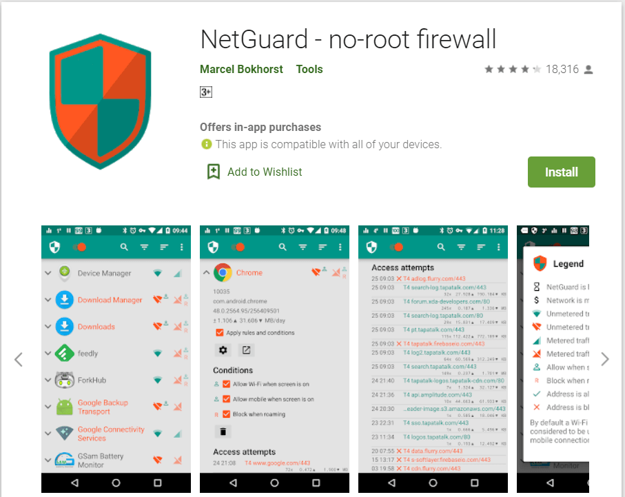 NetGuard | Best Firewall Authentication Apps For Android Phones