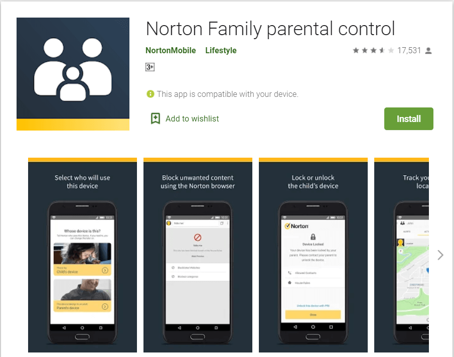 Norton Family Parental Control | block inappropriate websites on android
