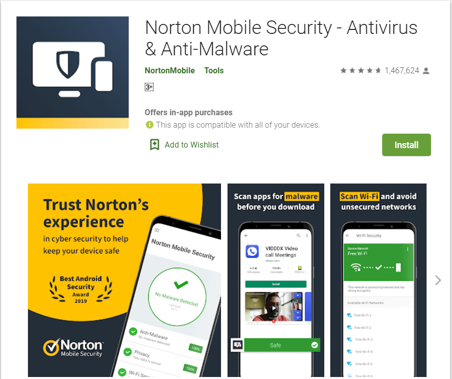 Norton Mobile Security Best Adware Removal Apps