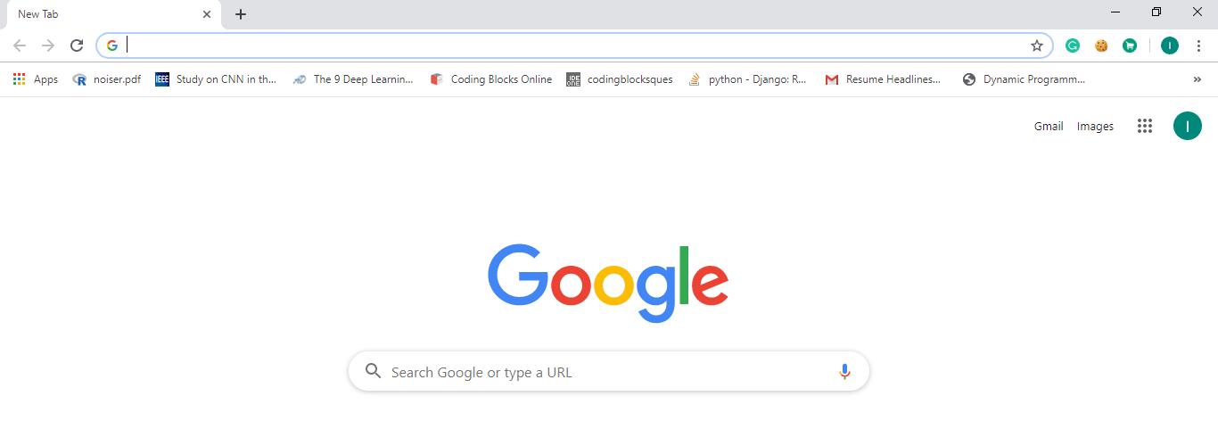Open Google Chrome either from the taskbar or desktop