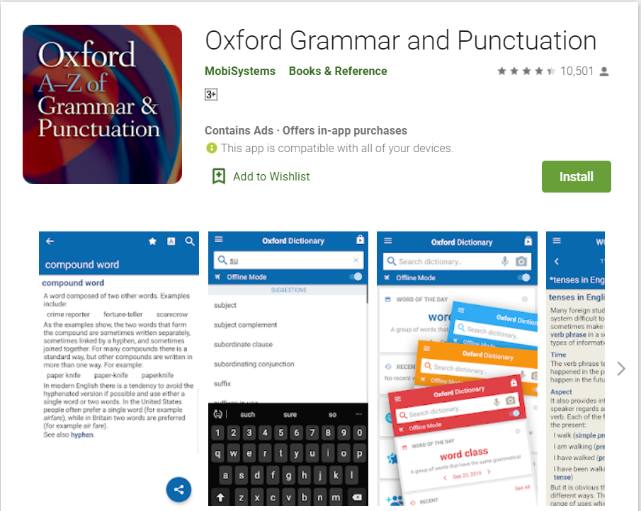 Oxford Grammer And Punctuation | Top Grammar Apps for Android in 2020