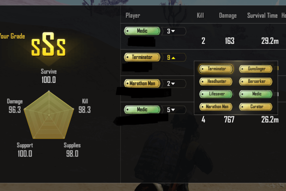 PUBG Medals list with their meaning