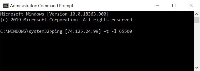 Perform DDoS on website using Command Prompt