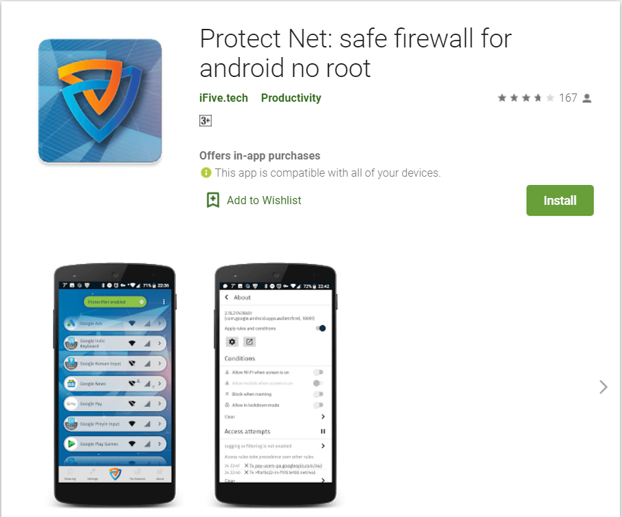 Protect Net | Best Firewall Authentication Apps For Android Phones