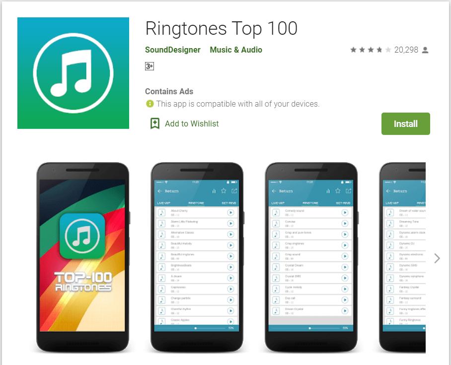 Ringtones top 100