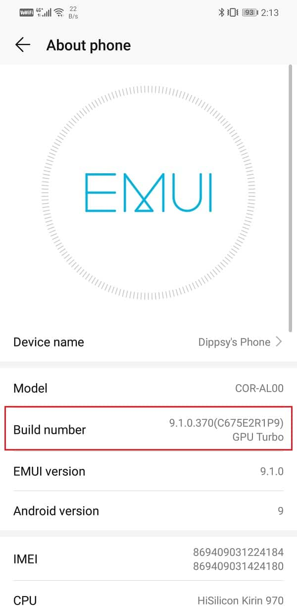 See Build Number | Fix Problem Loading Widget on Android