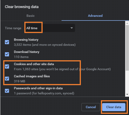 Select the Clear Browsing Data (or Clear Recent History) option. | Facebook not loading properly