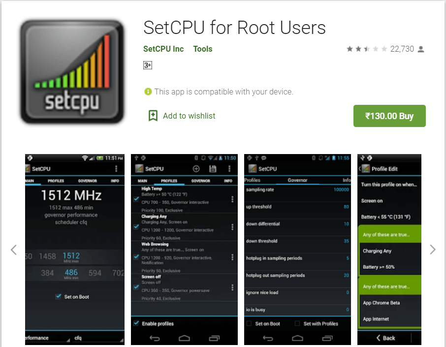 SetCPU for Root Users | Overclock Android To Boost Performance