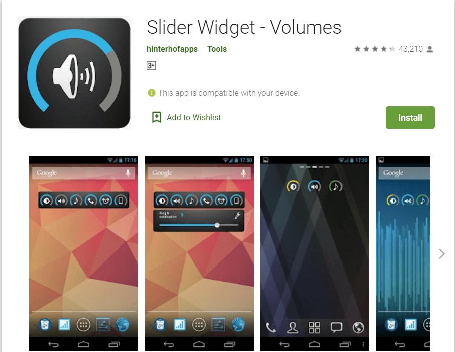 Slider Widget | Best Android Widgets