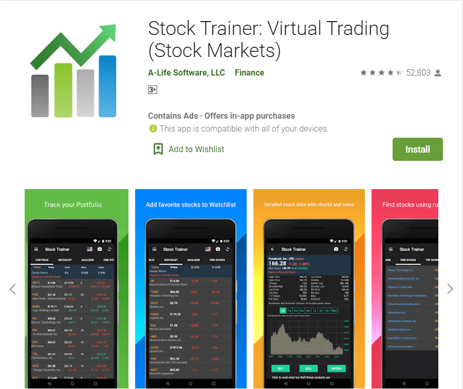 Stock Trainer Virtual Trading   Top Apps For Stock Market Trading