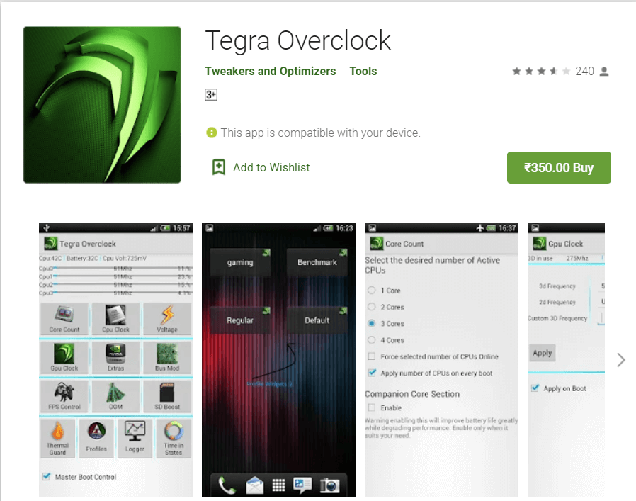 Tegra OverClock | Overclock Android To Boost Performance