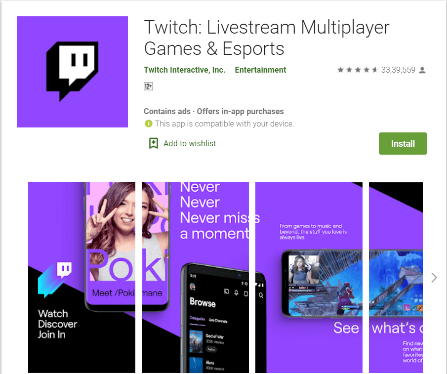 Twitch | Best Video Streaming Apps
