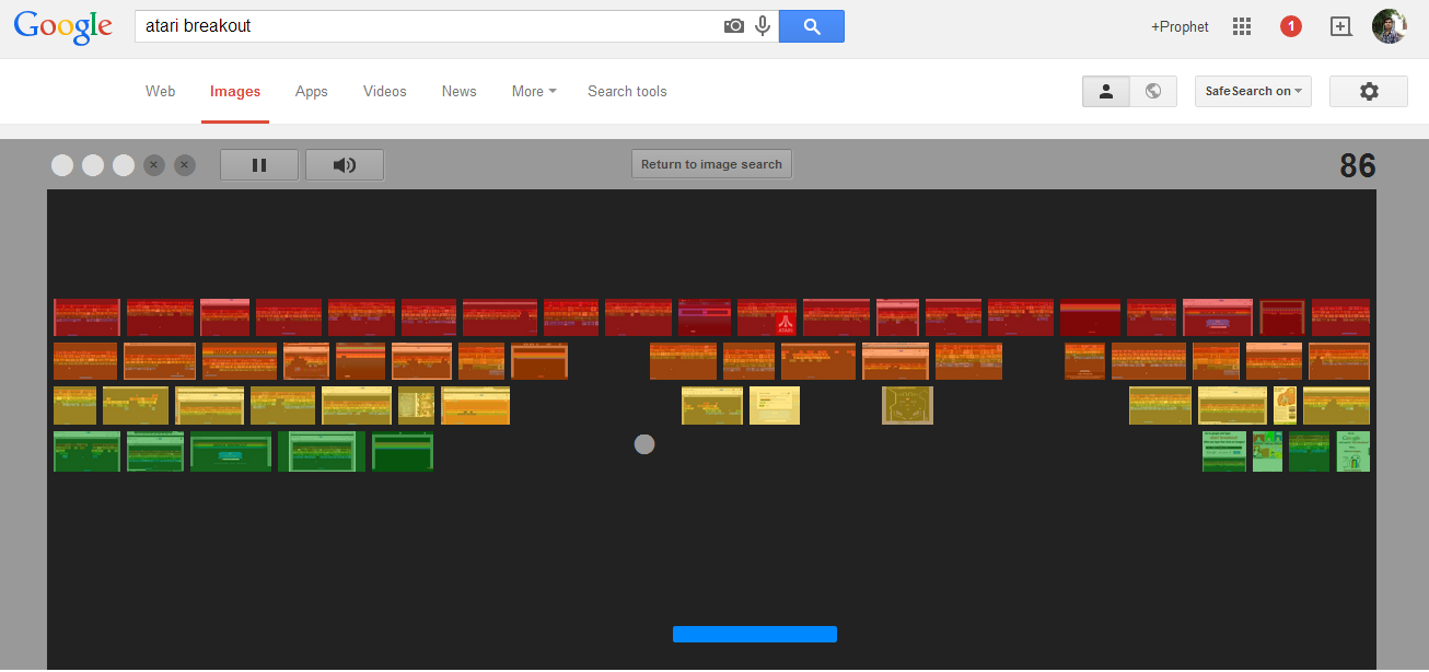 Type Atari Breakout on Google Images and look at what happens