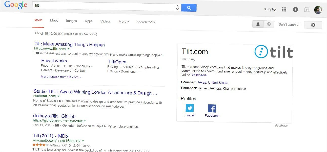 Type the word tilt or askew on Google and look at what happens