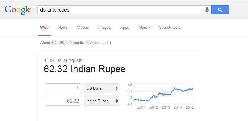 Using Google, you can convert currency easily