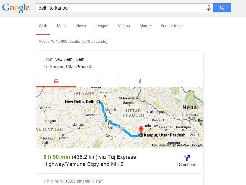 Using Google, you can find out the distance and traveling time between towns or countries