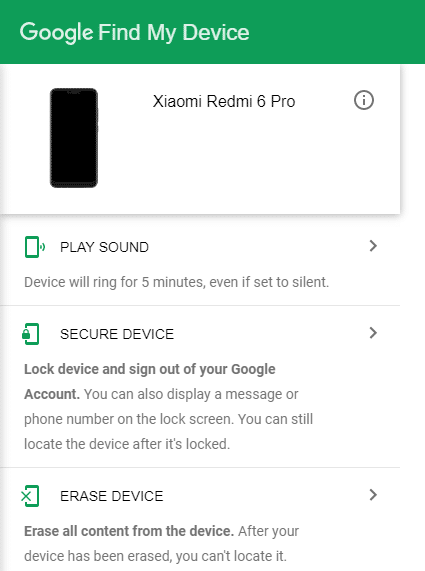 Using this option, you can erase all the data of your phone