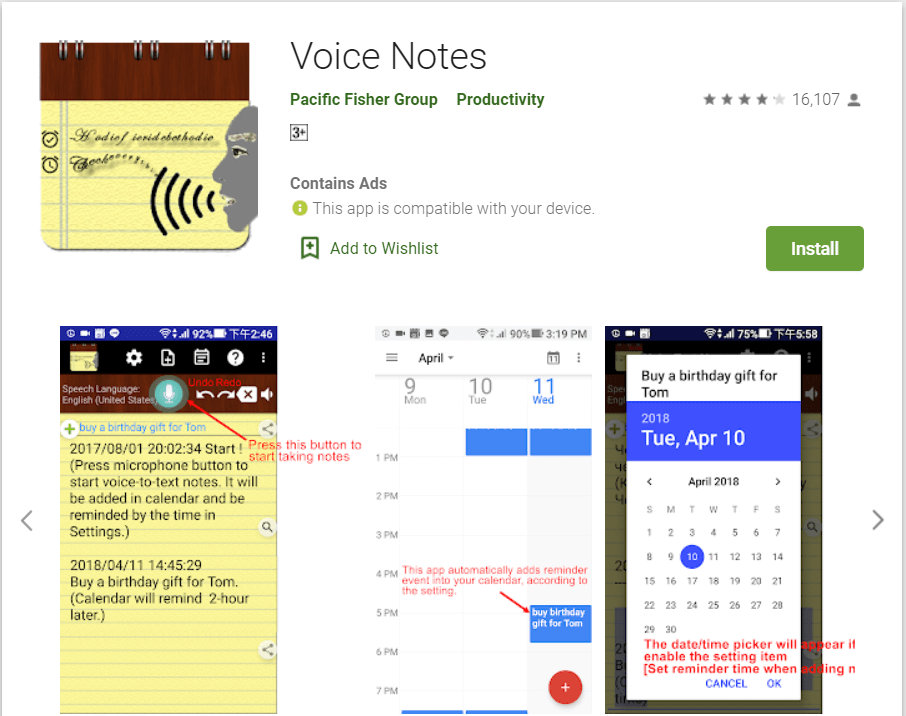 Voice Notes | Best Speech To Text Applications