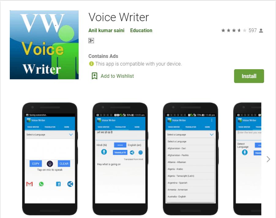 Voice Writer