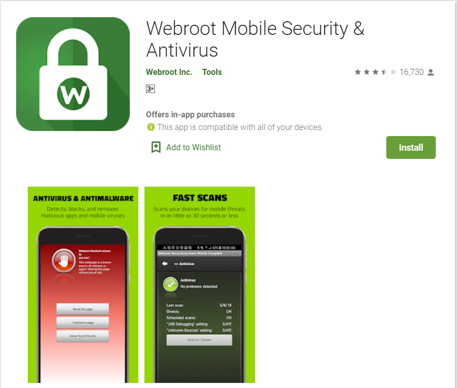 Webroot Mobile Security and Antivirus | Best Adware Removal Apps