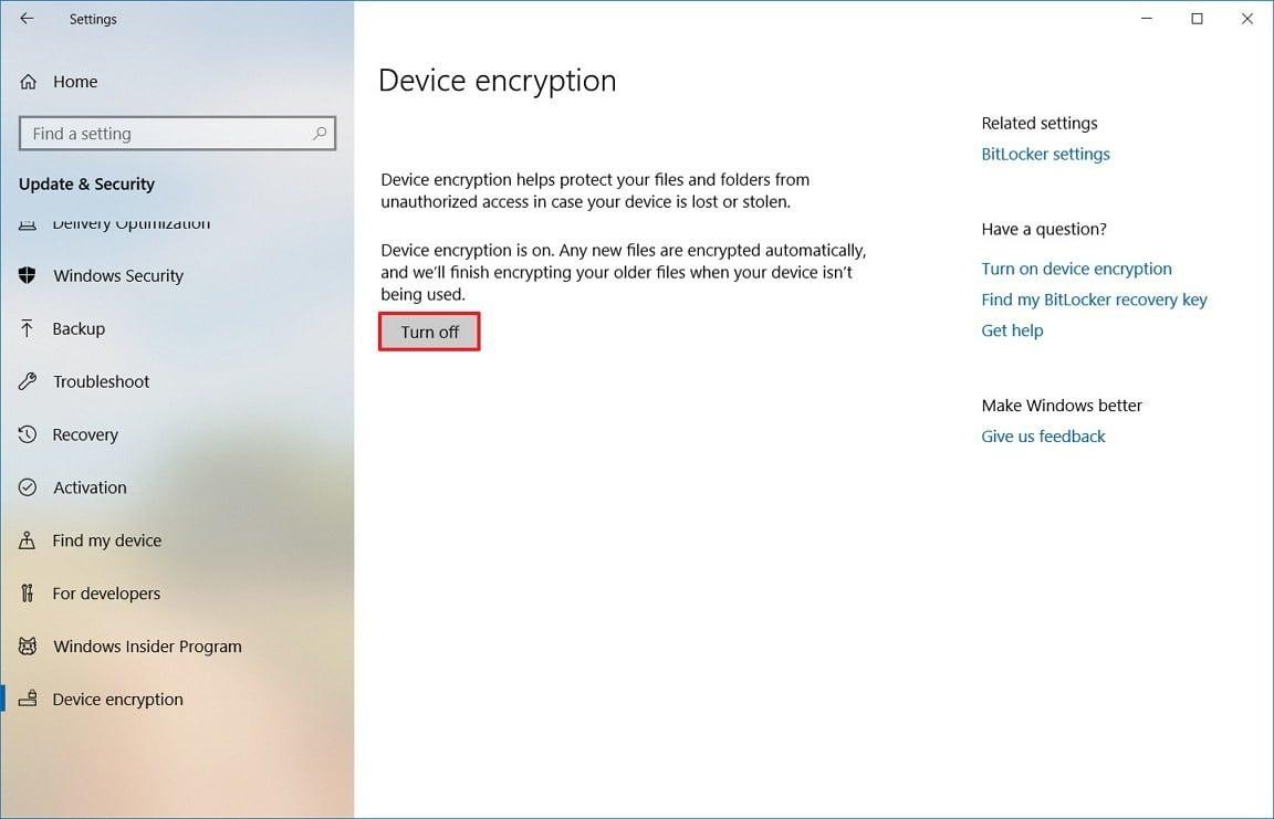 Windows 10 Encryption