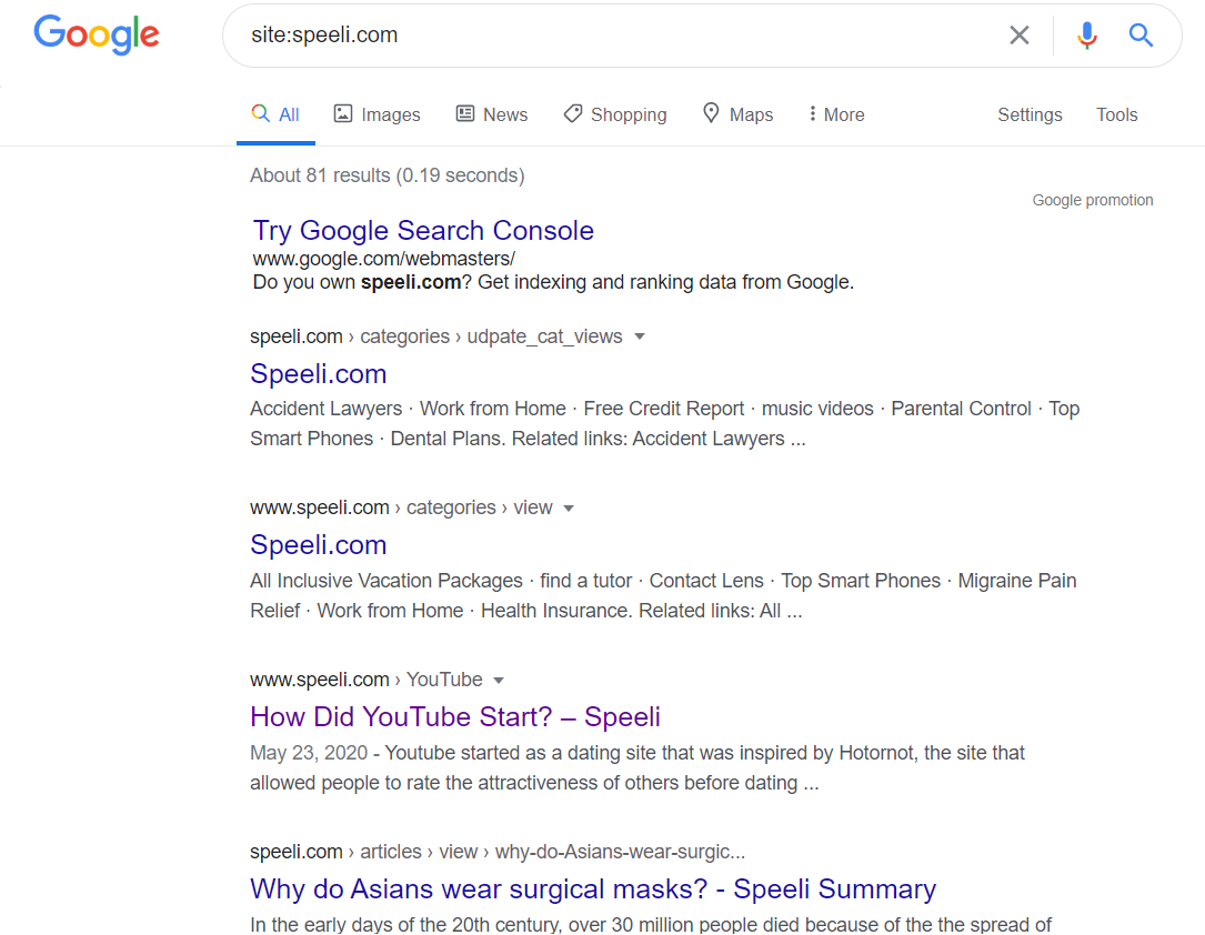 With the help of Google, you can check the results of any website