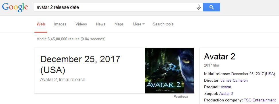 With the help of Google, you can view the releasing date of any movie! | Best Google Tricks and Tips
