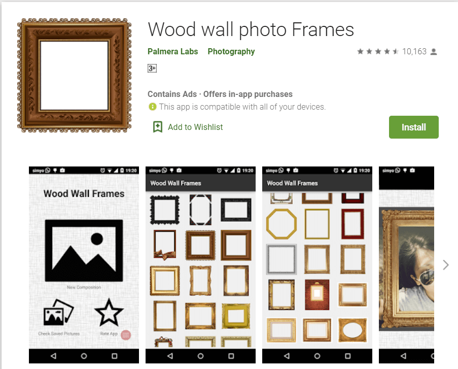 Wood Wall Photo Frames