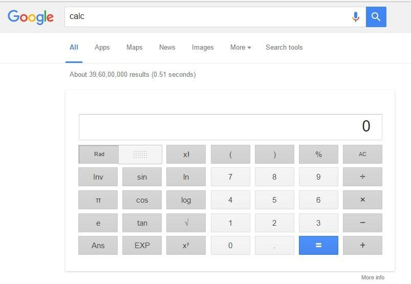 You can also use a calculator on Google. You just have to type calc on Google