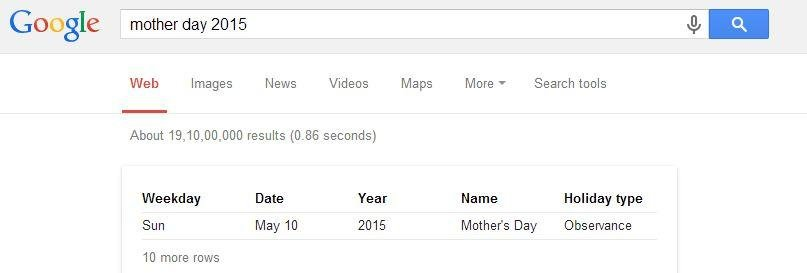 You can search for special days on Google and set reminders | Best Google Tricks and Tips