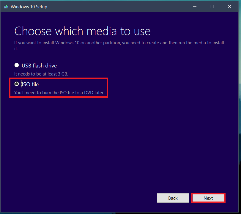 choose the second option, that is, ISO file. | Download Windows 10 for free