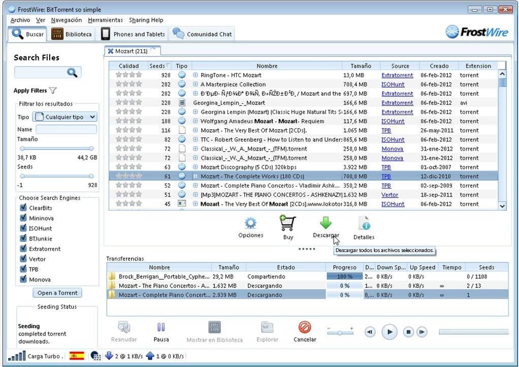 frostwire   uTorrent Alternatives For Downloading Torrent Files