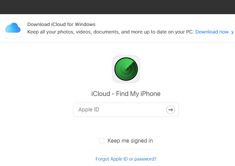 iCloud Find My Device