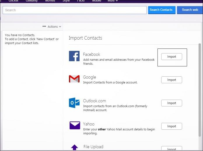 import your 'Facebook' contacts.