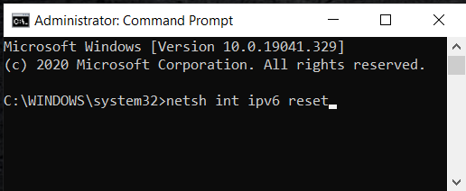 "netsh int ipv6 reset | Fix ""Servers are too Busy"" Error"