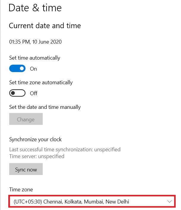 tap on Time Zone   Fix Error Code 16: This Request Was Blocked