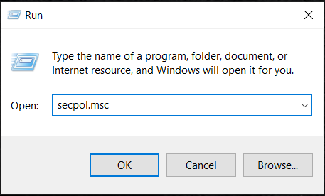 """type in """"secpol.msc"""" and then press Enter.   The Referenced Account Is Locked Out"""