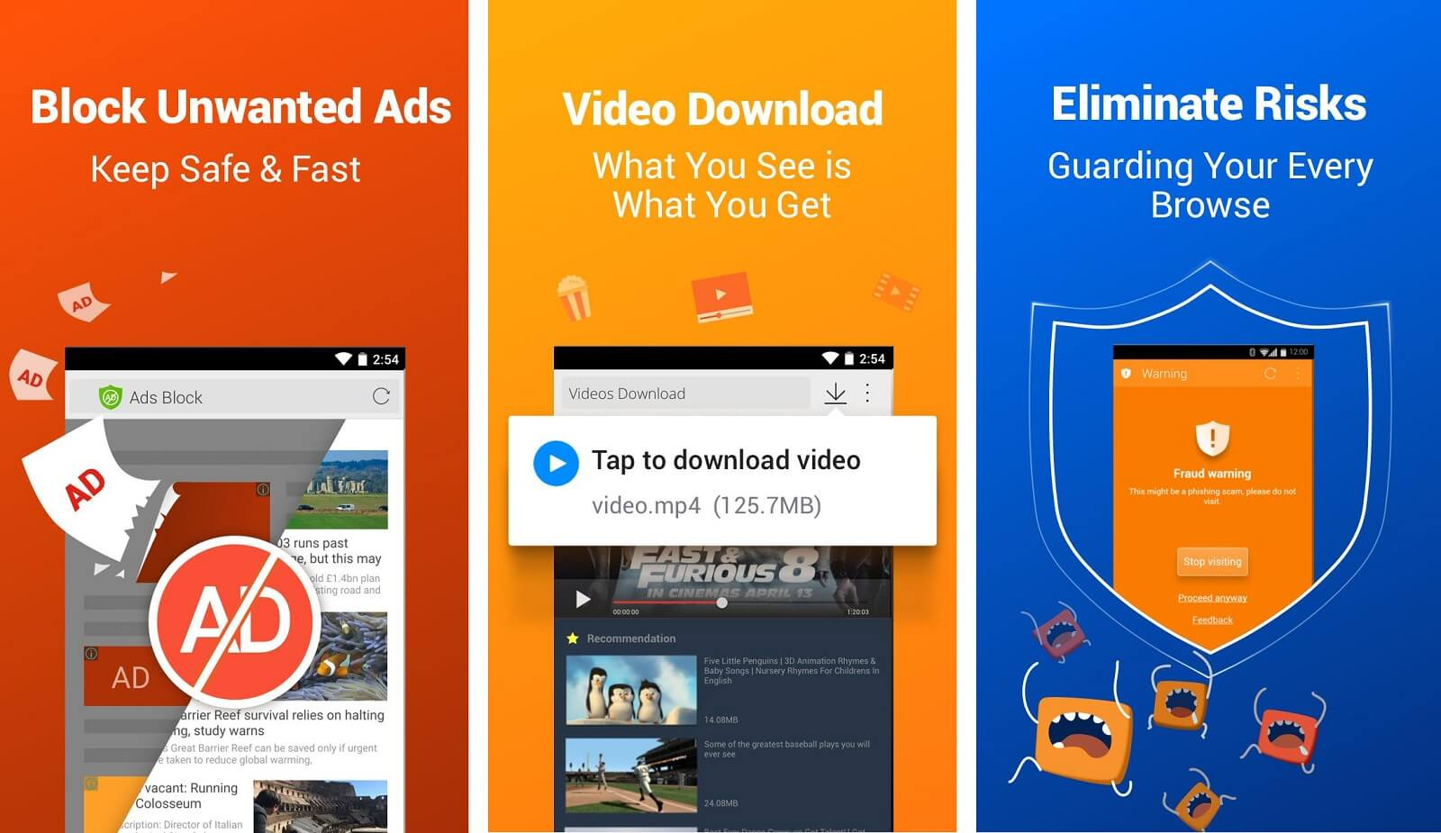 CM Browser Ad Blocker , Fast Download , Privacy