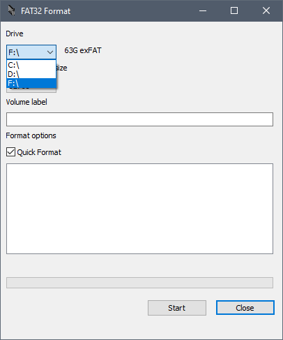 """Click on the down arrow right below the """"Drive"""""""