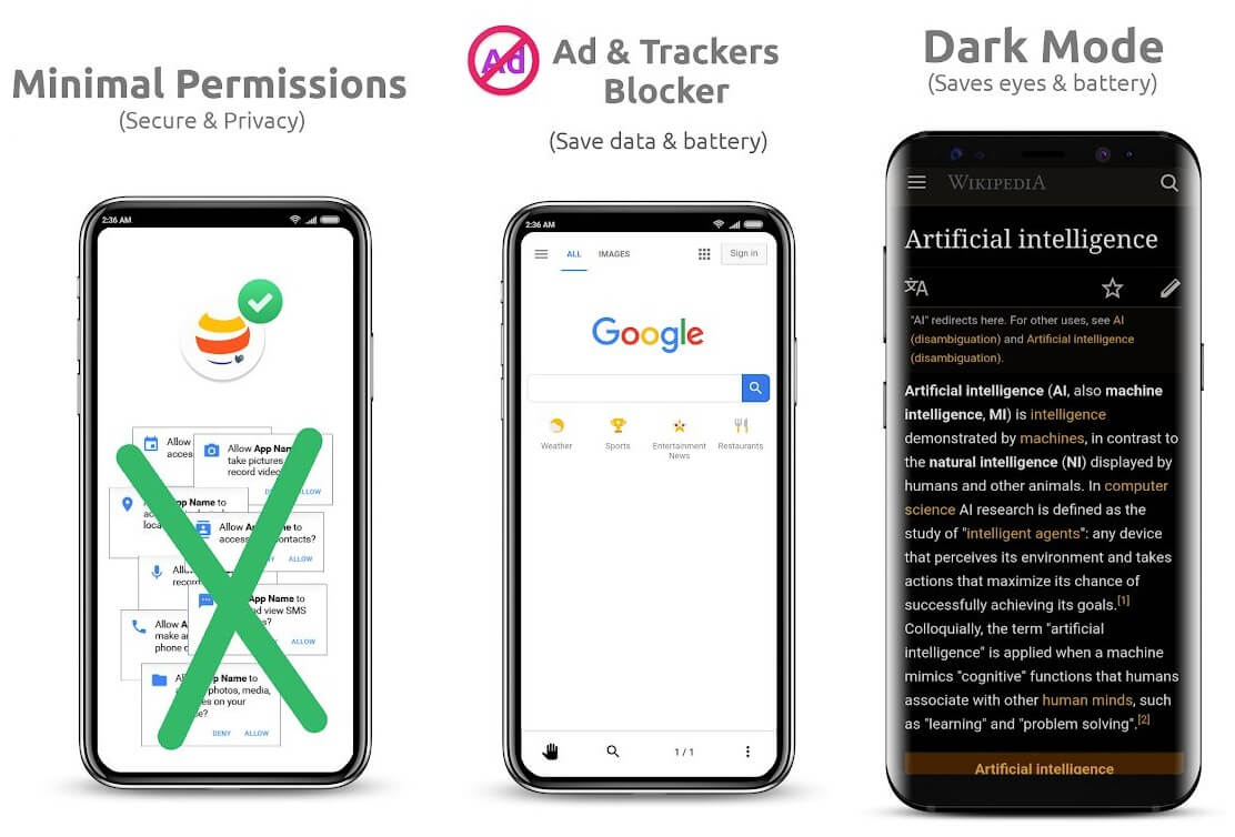 OH Web Browser - One handed, Fast & Privacy | Best Adblock Browsers for Android