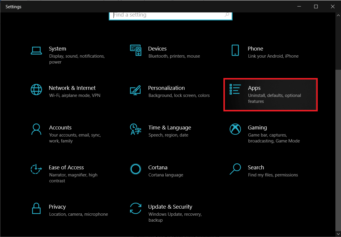 Open Windows settings using the method mentioned earlier and click on Apps | Fix Windows Audio Device Graph Isolation high CPU usage