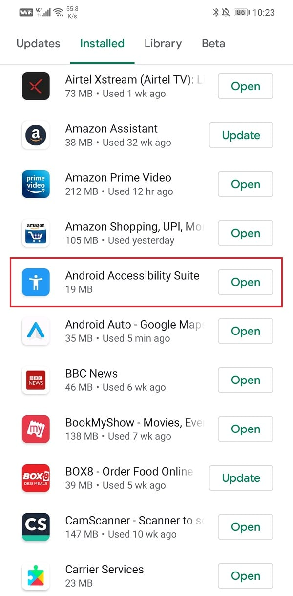Search for Android Auto and check if there are any pending updates