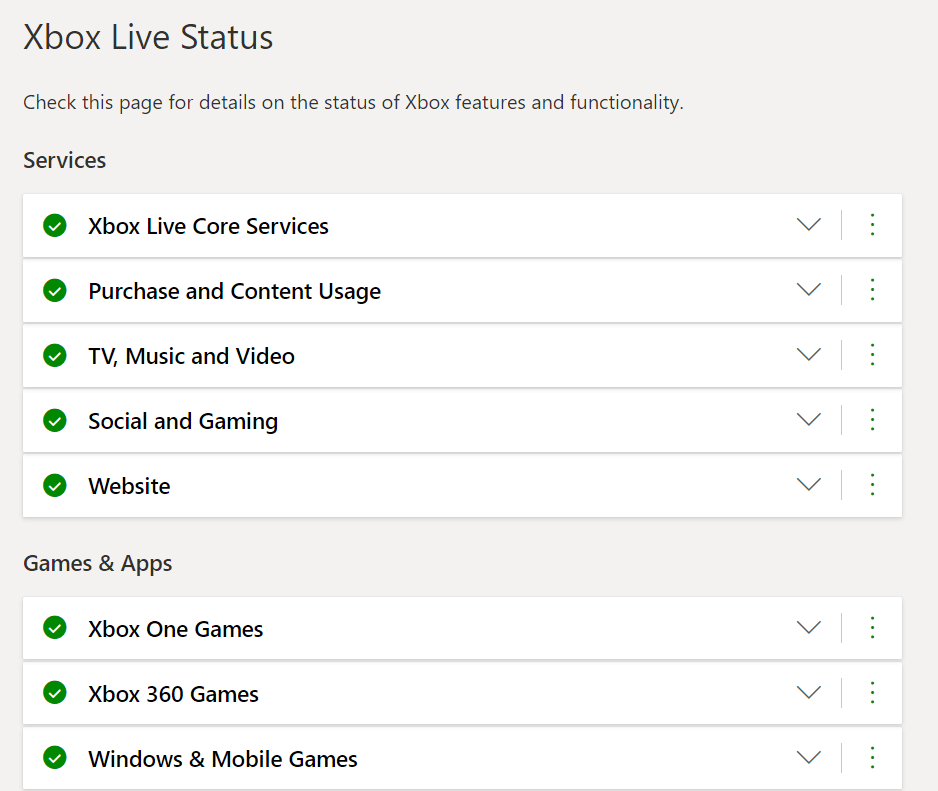 Xbox Live Status Page   Fix Unable to Connect to Netflix Error