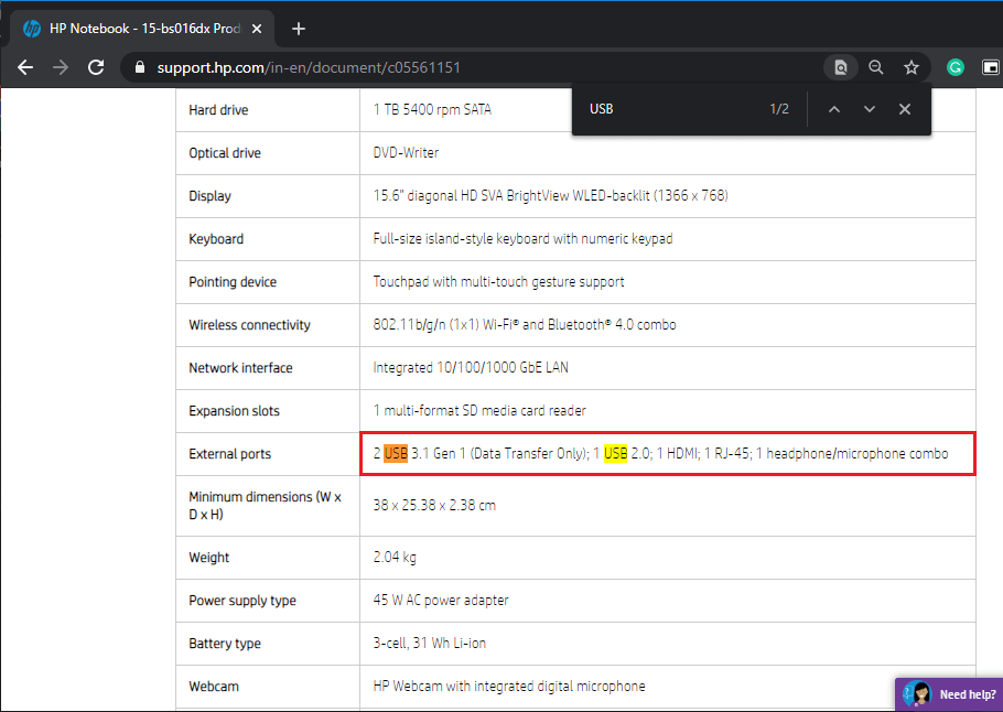 Check website specification to locate words like USB | Identify USB Ports on Computer