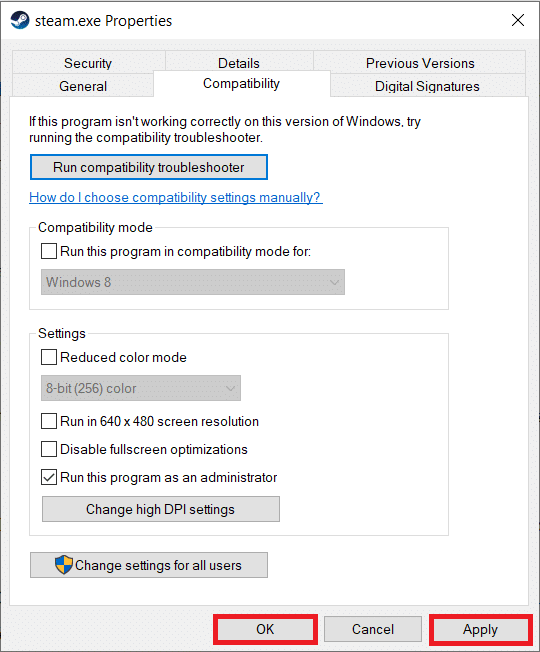 Click on Applyto save the changes you made and then click on theOKbutton to exit
