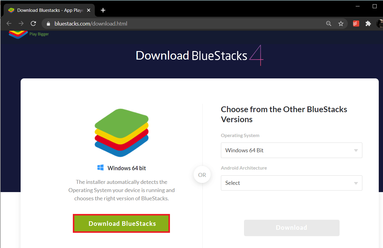Download the latest version of the Bluestacks   Fix Bluestacks Engine Won't Start