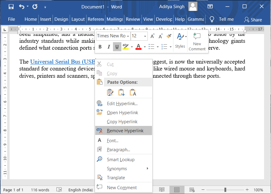 How to Remove Hyperlinks from Microsoft Word Documents
