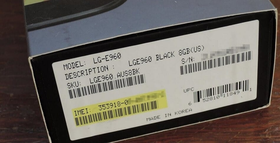 Look up for the IMEI number of your device in the packaging box of your mobile phone