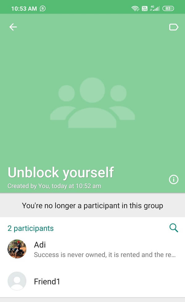 Now you can text the person from the number which is blocked