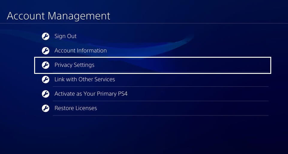 Privacy Settings Playstation